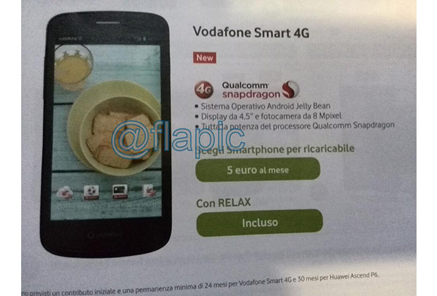Vodafone Smart 4G pops up in leaked flyer, looks a bit like a Nexus