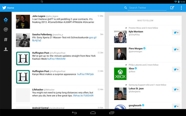 Tabletoptimized Twitter app leaks after IFA, works best on 10inch screens
