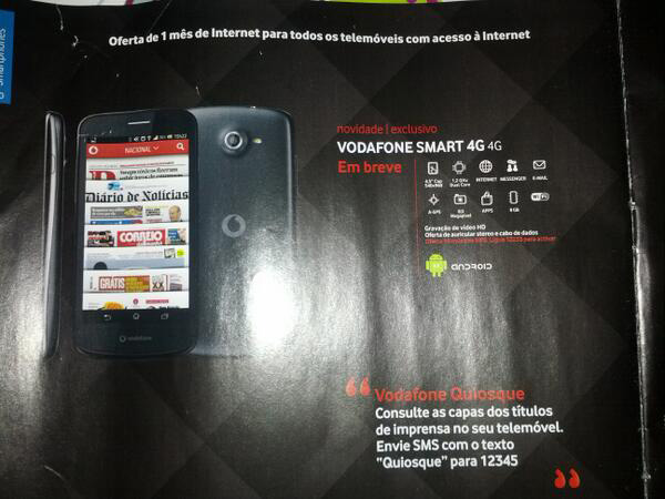 Vodafone Smart 4G shows its face, some base specs in leaked flyer