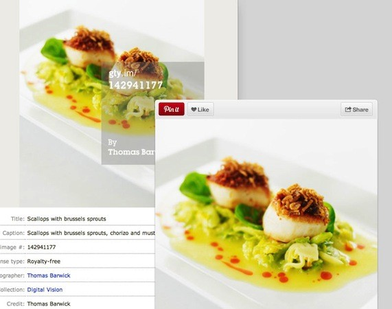 Pinterest pairs up with Getty Images, tells you who shot your pinned photos