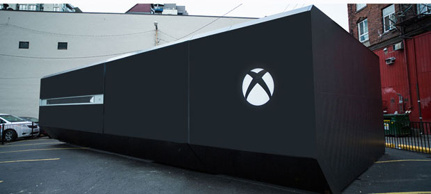 Massive Xbox One reveals regular sized consoles within, and zombies