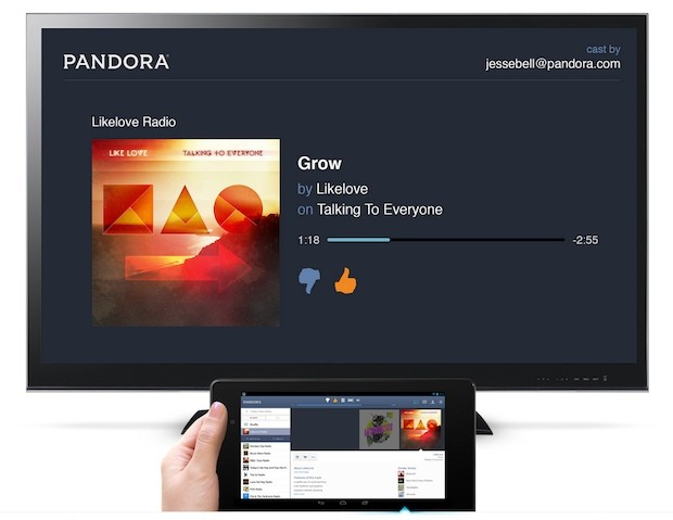 Pandora for Android adds Chromecast streaming update iPhone too