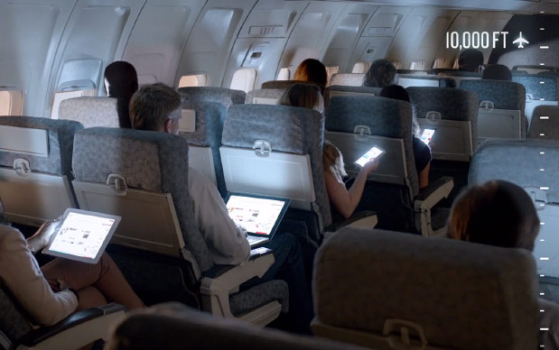 Device use on a plane