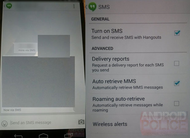 Google Hangouts update teased in leaked screenshots, SMS integration incoming