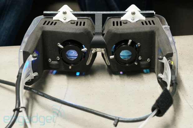 Avegant's headmounted retinal display prototype offers brilliant definition, we go handson video