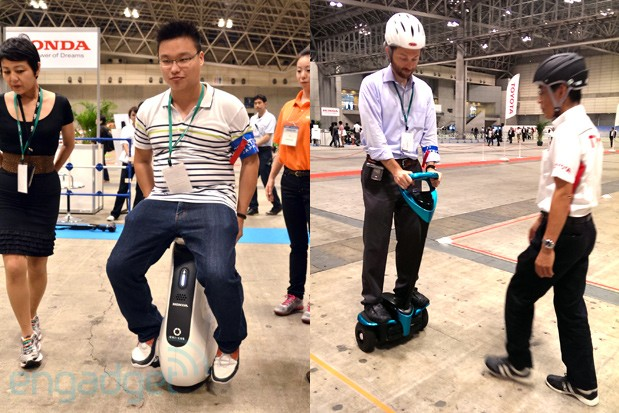 Honda UNI-CUB vs. Toyota Winglet: the battle of human transporters at CEATEC (video)
