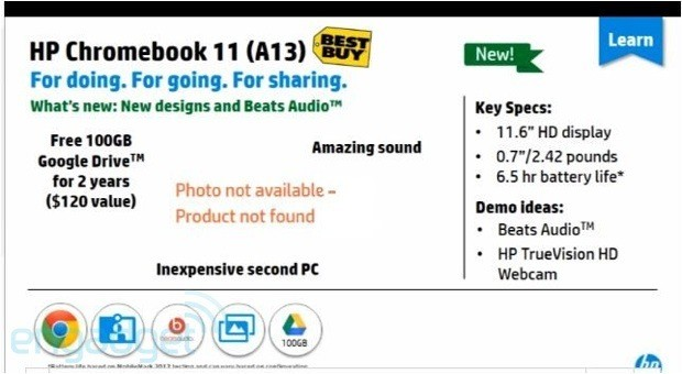 HP documents hint at unannounced Chromebook 11 update more details