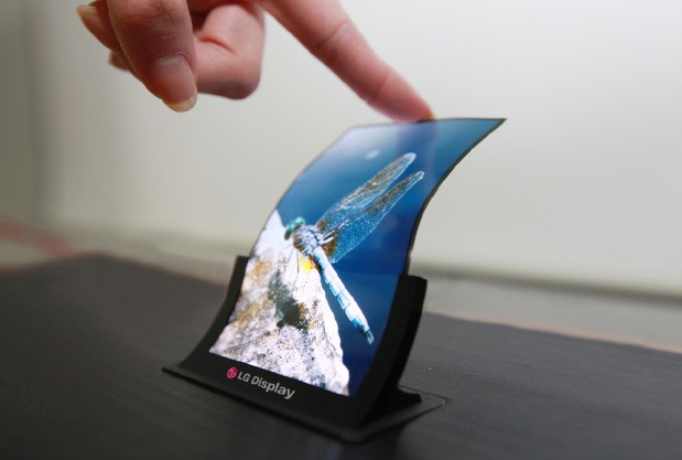 Curved display by LG - Magazine cover