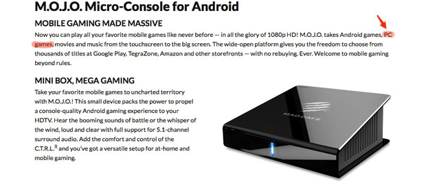 Mad Catz MOJO Android console shipping December 10th for $250