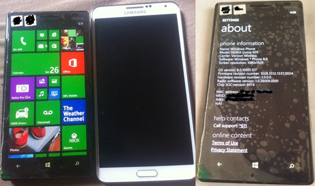 Nokia Lumia 929 spotted in the wild, may reach Verizon by Thanksgiving video
