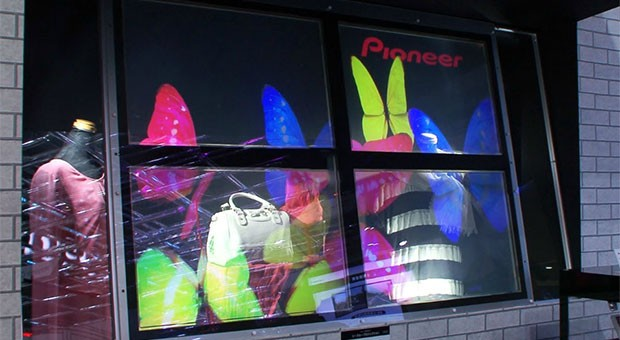 Pioneer shows off seethrough projection tech for Minority Reportstyle signage