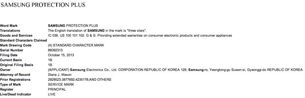 Samsung files for Protection Plus trademark, hints at possible extended warranty program