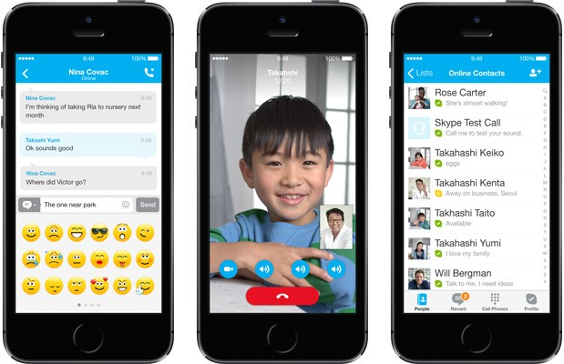 Skype apps for iPad and iPhone get an iOS 7 interface makeover