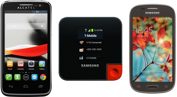 TMobile releases bevy of Alcatel and Samsung budget smartphones, plus an LTE hotspot