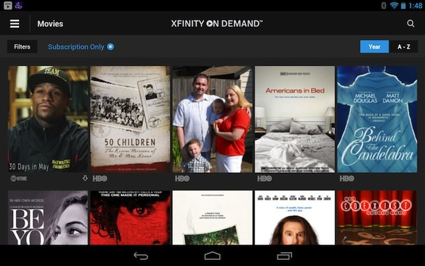 Comcast's Xfinity video ondemand, Streampix apps on Android updated with HD video
