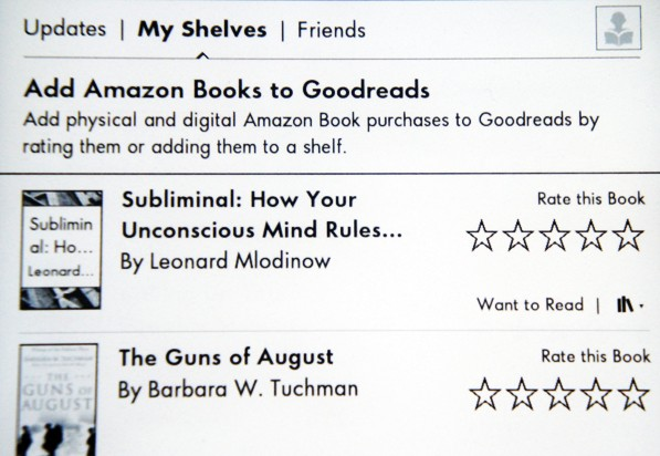 Goodreads for Kindle Paperwhite handson