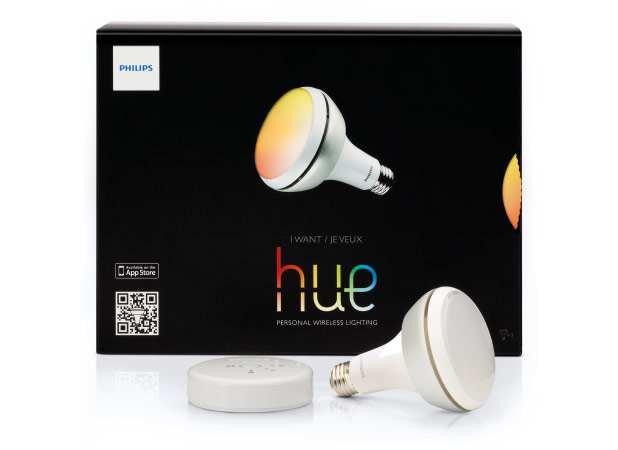 philips hue gets down with app controlled br30 recessed lights. Black Bedroom Furniture Sets. Home Design Ideas