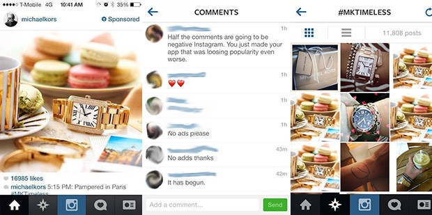 Instagram serves its first advertisement, users unsurprisingly irked
