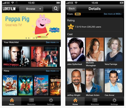 Amazon brings its secondfiddle Lovefilm service to the iPhone and iPod Touch