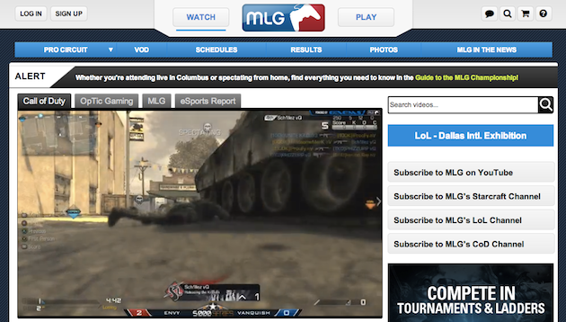Major League Gaming launches MLGTV online network to stream esports in high definition