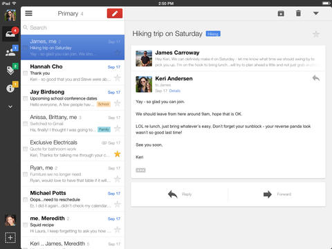 Gmail for iOS adds full screen views, background refresh and new nav bar