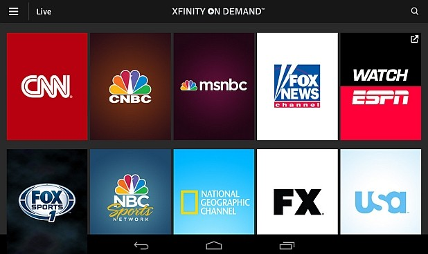 Comcast Xfinity TV Go app is streaming 35 channels on Android and iOS