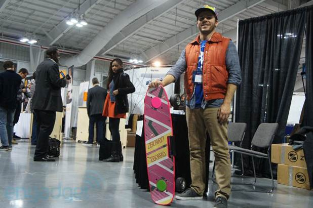Visualized Marty McFly impersonator shows of ZBoards hoverboardinspired creation