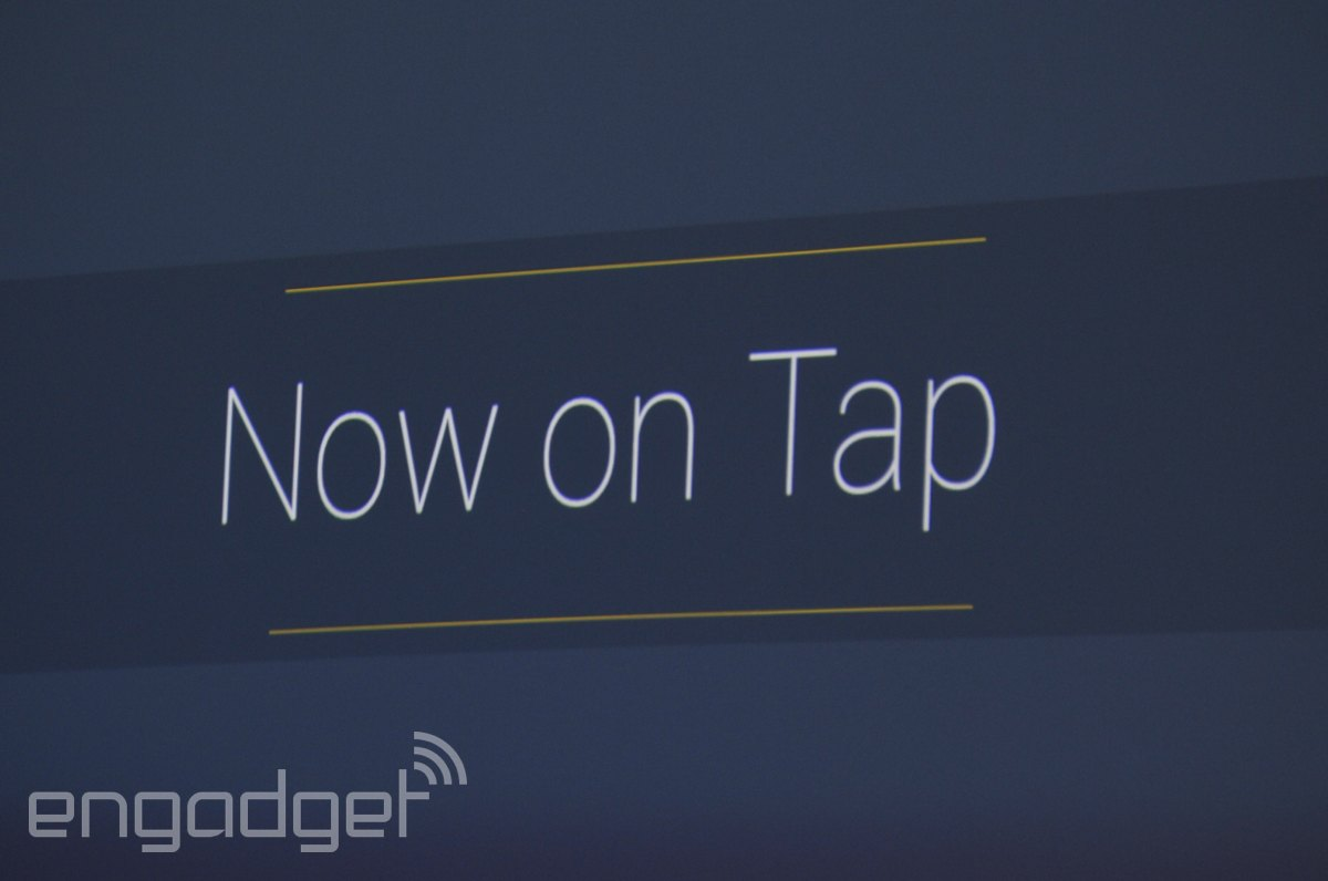 Google reveals Now on Tap, its new concierge for Android M