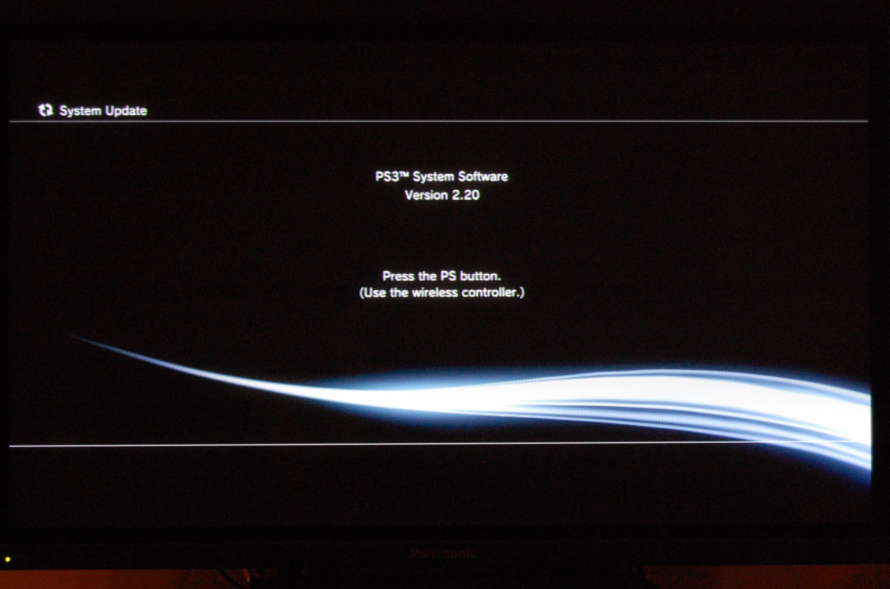 Updating system software on ps3