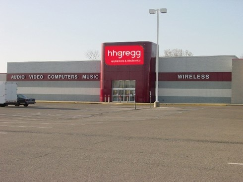Closed Circuit City store hhgregg signage