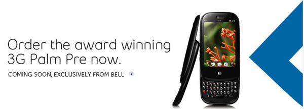 bell pre order now Palm Pre comes to Bell on August 27