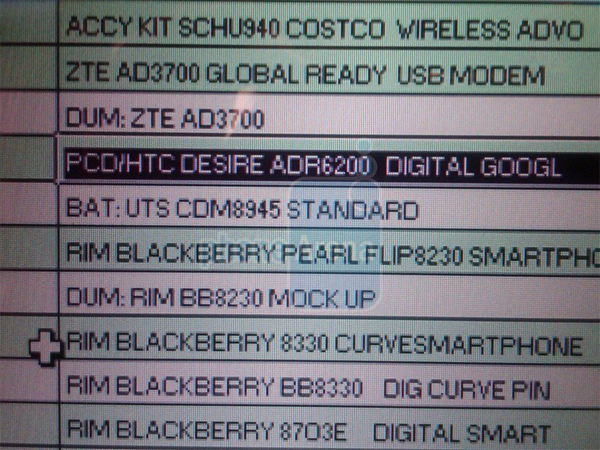 Move over, Sholes: Verizon getting Android-powered 'Desire' from HTC? Htc-desire-list