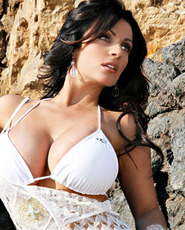 Denise Milani, Denise Milani photos, white bra