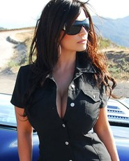 Denise Milani, Denise Milani photos, black top