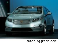 GM Chevy Volt on display