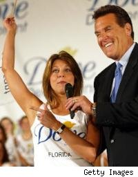Women competes in Dove's Most Beautiful Underarm Contest