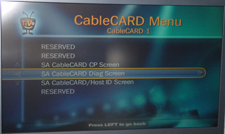 Series3 CableCARD Config