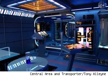 Tony Alleyne, trasnporter console, star trek