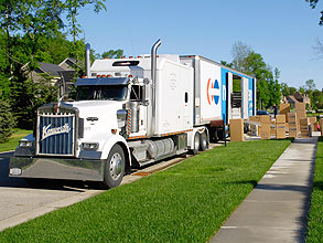 moving in mover truck