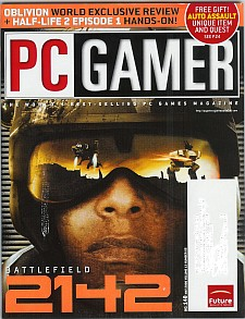 Battlefield 2142 cover for PC Gamer magazine
