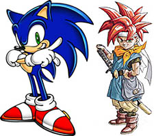 Sonic and Crono side by side