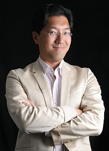 Yuji Naka strikes a pose