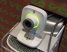 A numbered Xbox Live Vision camera on top of a 360