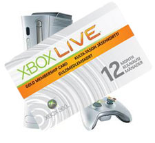 Xbox Live Gold subscription card