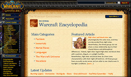 Blizzard launches Warcraft encyclopedia