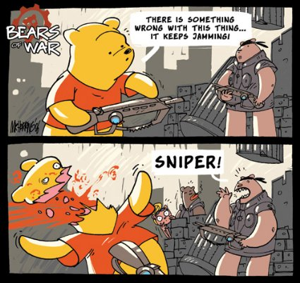 War Bear Bears of War Comics Are Bloody