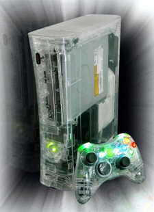 Crystal Xbox 360 case.