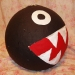 Chain Chomp piata, chain being added
