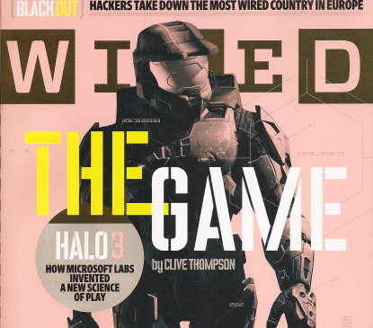 may have seen the Master Chief plastered on the cover of Wired magazine.