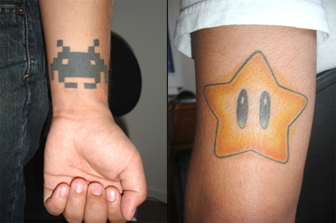 More than a few readers sent us word about these gamer tattoos above that